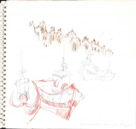 Port and Quai Henri IV, Dieppe, Illustration 4 in the book Sketchbook (Train Bleu)