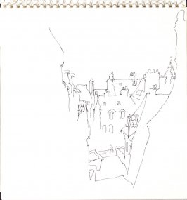 Untitled (City view), Illustration 6 in the book Sketchbook (Train Bleu)