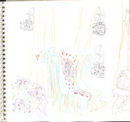 Untitled (Armchair), Illustration 22 in the book Sketchbook (Train Bleu)