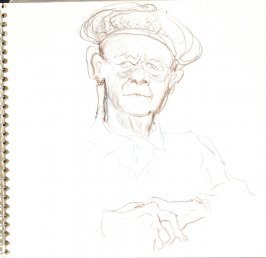 Untitled (French man), Illustration 27 in the book Sketchbook (Train Bleu)