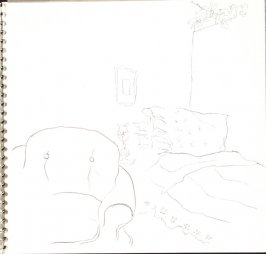 Untitled (Hotel room), Illustration 32 in the book Sketchbook (Train Bleu)