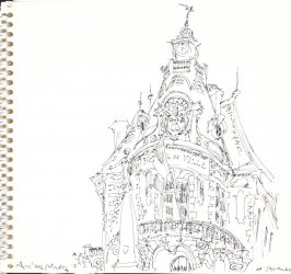 Untitled (Trouville city hall), Illustration 1 in the book Sketchbook (Trouville, I)