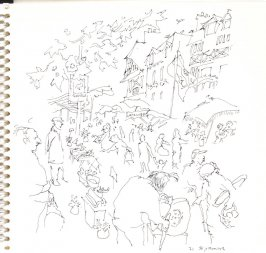 Le Marché, Illustration 2 in the book Sketchbook (Trouville, I)