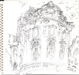 Casino, Illustration 4 in the book Sketchbook (Trouville, I)
