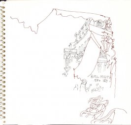 Untitled (View from a café), Illustration 6 in the book Sketchbook (Trouville, I)
