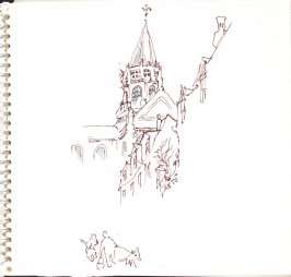 Untitled (Church), Illustration 8 in the book Sketchbook (Trouville, I)