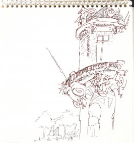 Untitled (Trouville city hall), Illustration 13 in the book Sketchbook (Trouville, I)