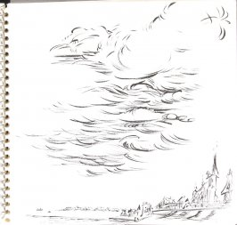 Untitled (Trouville clouds), Illustration 20 in the book Sketchbook (Trouville, I)