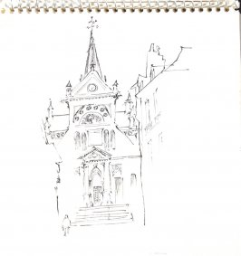 Untitled (Church facade), Illustration 21 in the book Sketchbook (Trouville, I)
