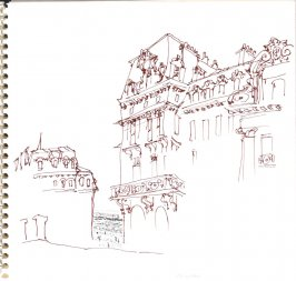 Untitled (Where Proust and His Mother Stayed), Illustration 27 in the book Sketchbook (Trouville, I)