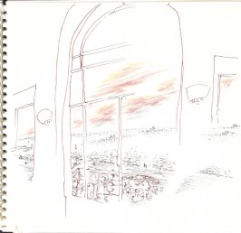 Untitled (Building Where Proust and His Mother Stayed), Illustration 32 in the book Sketchbook (Trouville, I)