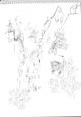 Rue des Rosiers, Illustration 1 in the book Sketchbook (Trouville, II)