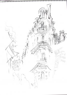 Untitled (Trouville), Illustration 5 in the book Sketchbook (Trouville, II)