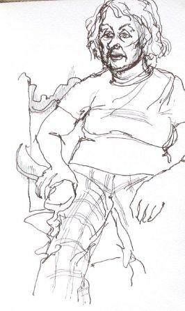 Mama, Illustration 7 in the book Sketchbook (Portraits)