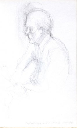 Raphael Soyer in His Studio, Illustration 34 in the book Sketchbook (Portraits)