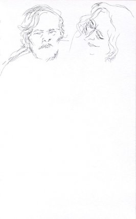 Untitled (Robert Emory Johnson and his wife, Dana), Illustration 45 in the book Sketchbook (Portraits)