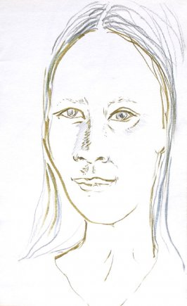 Nhung, Illustration 47 in the book Sketchbook (Portraits)