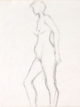 Untitled (Nude), Illustration 3 in the book Sketchbook (Life drawing class)