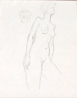 Untitled (Nude), Illustration 10 in the book Sketchbook (Life drawing class)