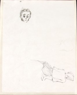 Untitled (Head and female figure), Illustration 11 in the book Sketchbook (Life drawing class)