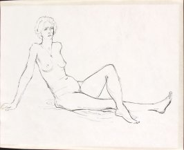 Untitled (Nude study), Illustration 12 in the book Sketchbook (Life drawing class)