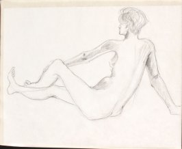 Untitled (Nude), Illustration 13 in the book Sketchbook (Life drawing class)