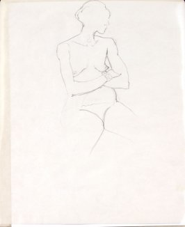 Untitled (Nude), Illustration 20 in the book Sketchbook (Life drawing class)