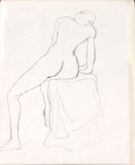 Untitled (Nude), Illustration 22 in the book Sketchbook (Life drawing class)
