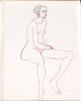 Untitled (Nude), Illustration 23 in the book Sketchbook (Life drawing class)