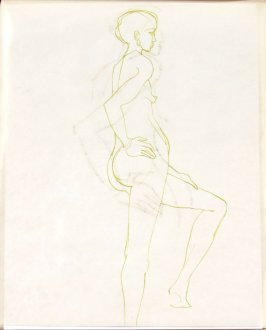 Untitled (Nude), Illustration 24 in the book Sketchbook (Life drawing class)