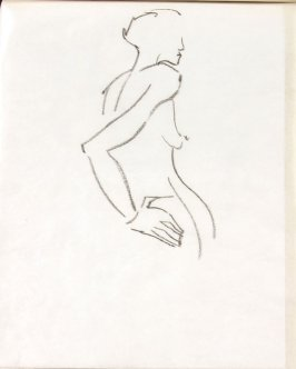 Untitled (Nude), Illustration 25 in the book Sketchbook (Life drawing class)