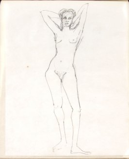 Untitled (Nude), Illustration 29 in the book Sketchbook (Life drawing class)