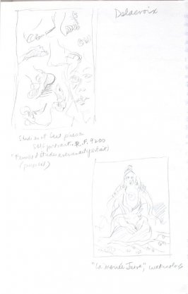Untitled (After Delacroix), Illustration 14 in the book Journal (Importance of Drawing, II)