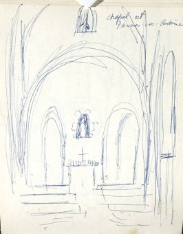 Chapel at Pennes-les-Fontaines, Illustration 4 in the book Sketchbook (Europe, Ballet)