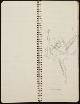 La Valse, Illustration 5 in the book Sketchbook (Ballet, People, Paris)