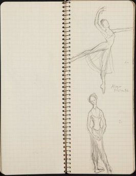 The Pied Piper, Illustration 6 in the book Sketchbook (Ballet, People, Paris)