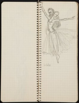 Pied Piper, Illustration 7 in the book Sketchbook (Ballet, People, Paris)