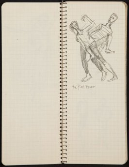 Untitled (Dancers), Illustration 8 in the book Sketchbook (Ballet, People, Paris)