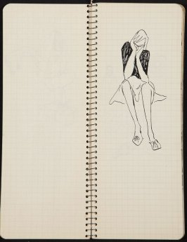 Untitled (Swimming), Illustration 12 in the book Sketchbook (Ballet, People, Paris)