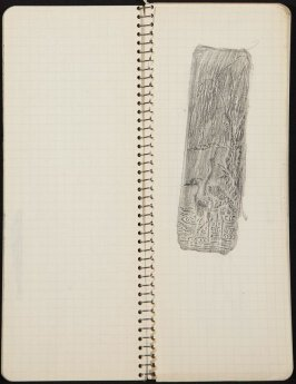 Untitled (Landscape rubbing), Illustration 22 in the book Sketchbook (Ballet, People, Paris)