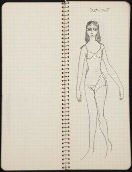 Untitled (Women and mannequin), Illustration 23 in the book Sketchbook (Ballet, People, Paris)