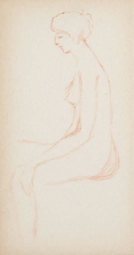 Untitled (Nude), Illustration 3 in the book Sketchbook (MFK Fisher)