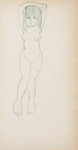 Untitled (Nude), Illustration 4 in the book Sketchbook (MFK Fisher)