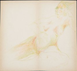 Untitled (Nude), Illustration 5 in the book Sketchbook (MFK Fisher)