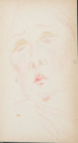 Untitled (Man's head), Illustration 6 in the book Sketchbook (MFK Fisher)