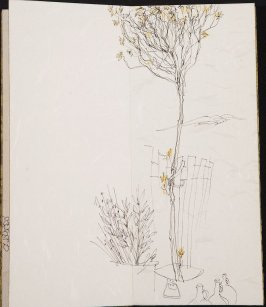 Untitled (Tree with jugs), Illustration 7 in the book Blanche's Pier (sketchbook)
