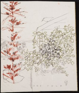 Untitled (Trees with Coca-Cola chest), Illustration 10 in the book Blanche's Pier (sketchbook)