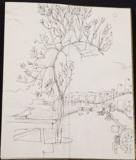 Untitled (Garden view), Illustration 16 in the book Blanche's Pier (sketchbook)