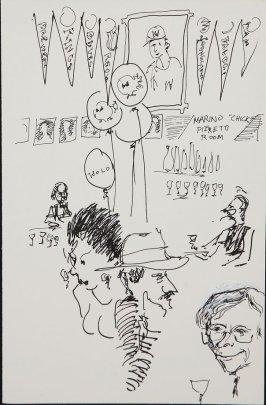 Illustration 5 (New Pisa Interior) in the book Wolo's Banquet in North Beach (sketchbook)