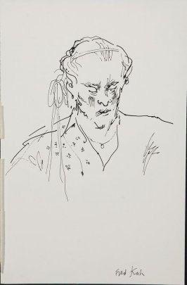 Illustration 12 (Fred Kuh) in the book Wolo's Banquet in North Beach (sketchbook)